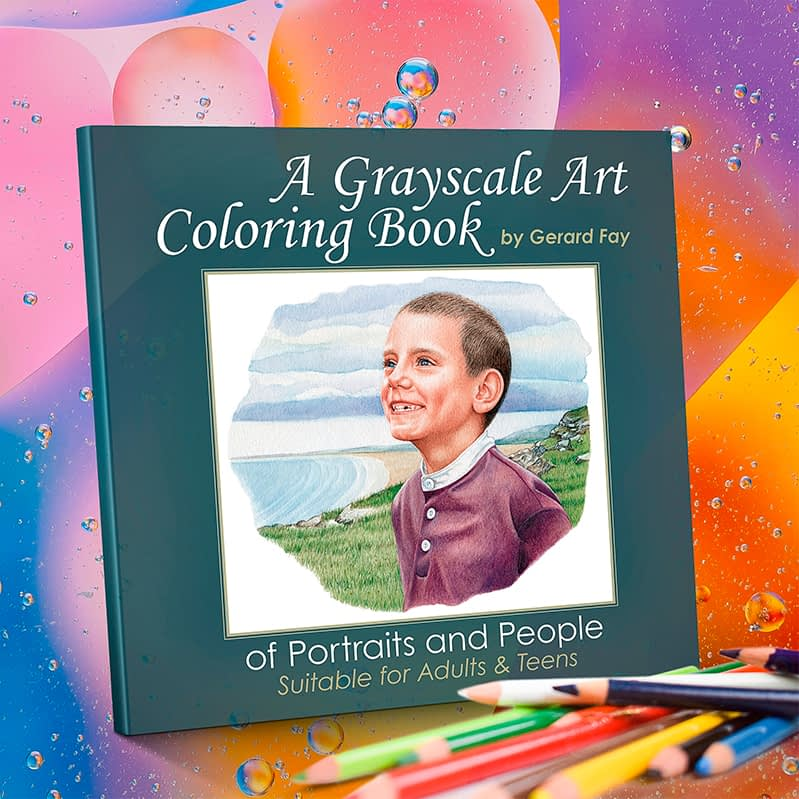 grayscale art coloring book