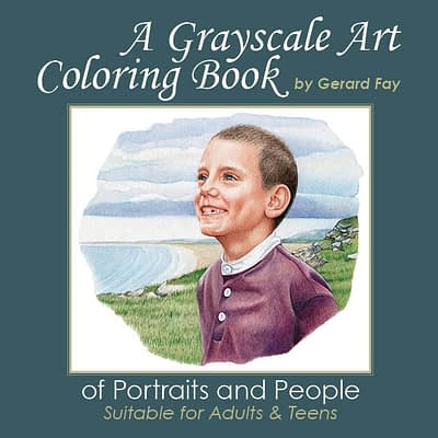 grayscale coloring book
