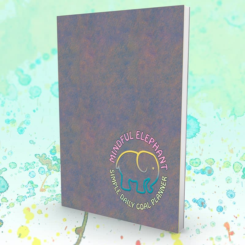 ELEPHANT DAILY PLANNER EMBOSSED 2 MOCK UP BOOK FLATTENED rgb 800px